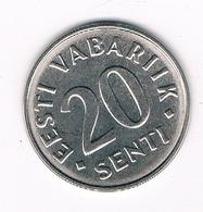 20 SENTI 2006 ESTLAND /1481/ - Estonie