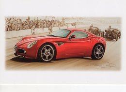 Alfa Romeo 8C   - Tableau De Francois Bruere (Art Card)  -  CPM - Turismo