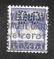 Perfin/perforé/lochung Switzerland No YT277 Rhein Falls Near Schaffhausen DC  AG Danzas & Cie - Perforés
