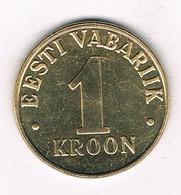 1 KROON 2001 ESTLAND /1484/ - Estonie