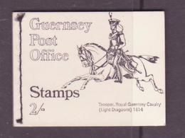 Guernesey - Guernsey Carnet 1969 Y&T N°C1 - Michel N°MH0-11 *** - Carnet De 2/- Cavalier De 1814 - Guernesey