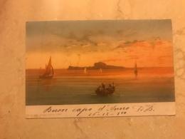 Capodanno 1900 Cartolina Formato Piccolo Viaggiata Capri - Napoli