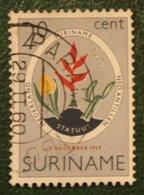 Statuut Zegel NVPH 335 Mi 370  1959 Used / Gestempeld  SURINAME / SURINAM - Surinam ... - 1975