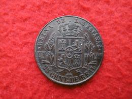 ISABEL 2 REINA DE LAS ESPANAS 25 CENTIMOS DE REAL 1863 SUPERBE - [ 1] …-1931 : Royaume