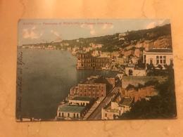 1908 Cartolina Formato Piccolo Viaggiata Napoli Panorama Di Posillipo E Palazzo Donn' Ann - Napoli