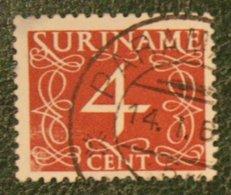4 Ct Cijfer Krimpen  NVPH 254 Mi 288 1948-1951 Used / Gestempeld  SURINAME / SURINAM - Surinam ... - 1975