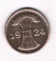 2 PFENNIG  1924 J DUITSLAND /1491/ - [ 3] 1918-1933 : Republique De Weimar