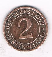 2 PFENNIG  1924 E DUITSLAND /1492/ - [ 3] 1918-1933 : Republique De Weimar