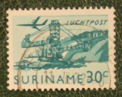 30 Ct Luchtpostzegel Airmail Airplane NVPH Nr: LP39 LP 39 1965 Used / Gestempeld SURINAME / SURINAM - Surinam ... - 1975