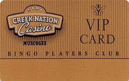 Creek Nation Casino - Muscogee, OK Slot Card   (BLANK) - Casino Cards