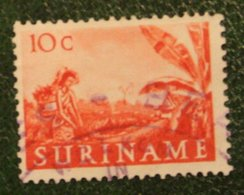 10 Ct Inheemse Voorstellingen NVPH 302 1953-1954 Used / Gestempeld SURINAME / SURINAM - Surinam ... - 1975