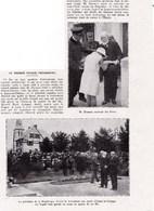 1931 Président Démissionnaire, M.Doumer à Anizy-le-Château Devant Le Monument Aux Morts( 4 Fils Morts Pour La  France) - Oude Documenten