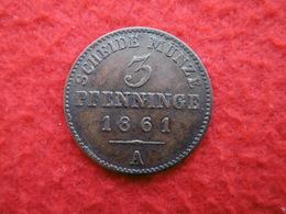 120 EINEN THALER 3 PFENNINGE 1861 A SUPERBE - [ 1] …-1871 : Etats Allemands