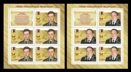 Russia 2018 Mih. 2645/46 Heroes Of Russia. Counterintelligence Sergey Gromov And German Ugryumov (2 M/S) MNH ** - Nuevos