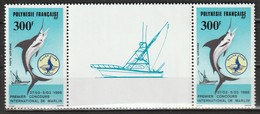 POLYNESIE - Poste Aérienne - PA N° 190 A ** (1986) La Paire Avec Vignette Centrale - Poste Aérienne