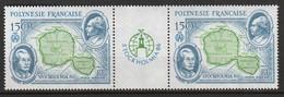 POLYNESIE - Poste Aérienne - PA N° 192 A ** (1986) La Paire Avec Vignette Centrale - Poste Aérienne