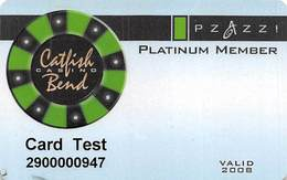Catfish Bend Casino - Burlington, IA - BLANK Slot Card - Casino Cards