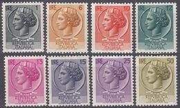 ITALIA - 1955/1960 - Lotto Di 8 Valori Nuovi MNH: Yvert 709B, 710A, 711, 712, 713, 714, 716 E 717B. - 1946-.. République