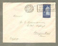 Storia Postale 1937 Da Napoli A Berna Svizzera Affr. Uomini Illustri Giotto £1, 25 Isolato - 1900-44 Victor Emmanuel III
