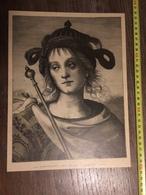 DOCUMENT 1897 LA TEMPERANCE PERUGIN GRAVURE DE MIRMAN - Old Paper