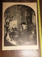 DOCUMENT 1897 FLORENCE GALLERIA UFFRIZI LA VENDITRICE DI FRITELLE GHERARDO DOW - Old Paper