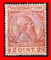 "ALBANIA (SHQIPERIA) AÑO 1913 GJERGJI KASTRIOTI ""SKANDERBEG"", HÉROE DE LAS LUCHAS POR LA INDEPENDENCIA DEL SIGLO XV - Albania"
