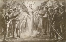 QUE L'ANNEE NOUVELLE SOIT L'AURORE D'ERE DE PAIX ET DE BONHEUR 1915 - Patriotiques
