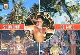 06 - Souvenir De Nice : Multivues (femme Seins Nus) - Carnaval