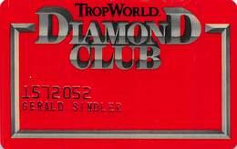 TropWorld Casino Atlantic City NJ Slot Card - No Text Over Mag Stripe - Casino Cards