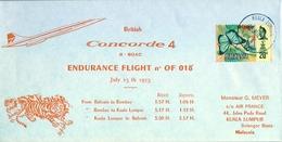 1975 , MALASIA / MALAYSIA , BRITISH CONCORDE 4 , ENDURANCE FLIGHT , AVIACIÓN - Malasia (1964-...)