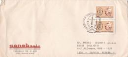 SANAEB SAIC. BUENOS AIRES. ENVELOPE CIRCULEE YEAR 1981 OBLITERATION ESPAMER. STAMP A PAIR - BLEUP - Argentine