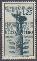 ITALIA - 1954 - Yvert 675 Nuovo MNH. - 1946-.. République
