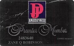 Tropicana Casino Atlantic City NJ Slot Card - Diamond Jim's Premier Member - Casino Cards