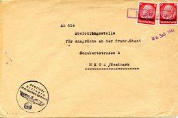 Cachet Caoutchouc Temporaire De RIXINGEN (RECHICOURT) Daté Du 26/07/1941 - Elzas-Lotharingen
