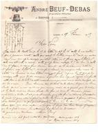 ANDRE BEUF-DEBAS  PROPRIETAIRE-VITICULTEUR   à LEMPDES PAR AULNAT  1915  COURRIER +ENVELOPPE - France