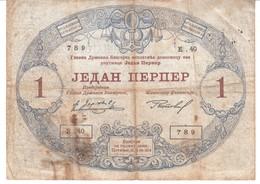 3822     Geldschein,  MONTENEGRO   1  PERPER - Billets