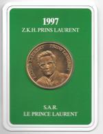 Medaille Prins Laurent From Belguim 1997 - Royaux / De Noblesse