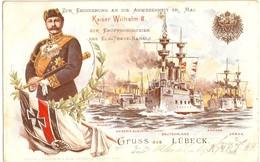 LÜBECK Eröffnung Elbe Trave Kanal In Anwesenheit Kaiser WILHELM II Marine Flotte 13.6.1900 Gelaufen - Krieg