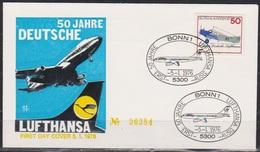 BRD FDC 1976 Nr.878  50 Jahre Deutsche Lufthansa ( D 4332 ) - BRD