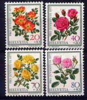 SUISSE - 1042/1045** - ROSES - Suisse