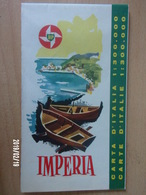 Carte Routière BP - ITALIE - 1962 - IMPERIA - Cartes Routières