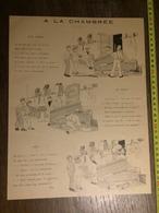DOCUMENT 1897 A LA CHAMBREE AUX ARMES DESSIN DE TOQ - Old Paper