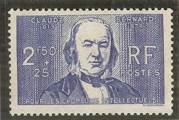 - N 464 Chomeurs Intellectuels - Claude Bernard Côte 12.50€ ** - France