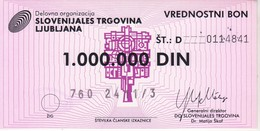 3823     SLOVENIJA   BON 1000.000  DINARA - Slovenia