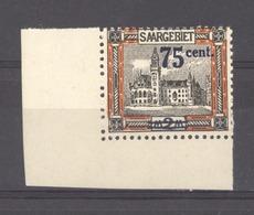 Sarre  :  Yv  78  **  Dentelure Intacte - 1920-35 Saargebied -onder Volkenbond