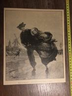 DOCUMENT 1897 MUSEE DE BRUXELLES LES PATINEURS DE DILLENS - Old Paper