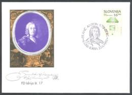 Slovenia, 1993, Franc Anton Steinberg, Idrija, Special Cover & Postmark - Slovenia