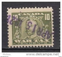 ##4, Canada, FWT13, Taxe De Guerre, Timbre Fiscal, Revenue Stamp, War Tax, George V - Fiscaux