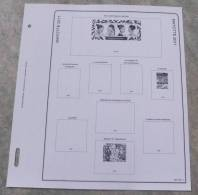 Feuilles Album MAYOTTE 1892-2011 (19 Feuilles) Avec Page De Garde (Qualité Professionnelle) - Pré-Imprimés