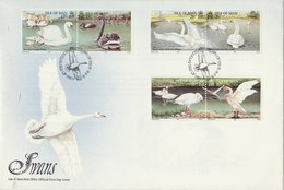 ISLE OF MAN 1991 FDC With Swans.BARGAIN.!! - Cygnes